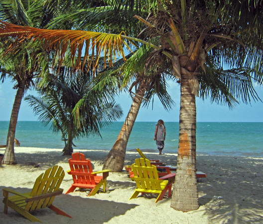 Your beach chair is waiting for you... Placencia, Belize