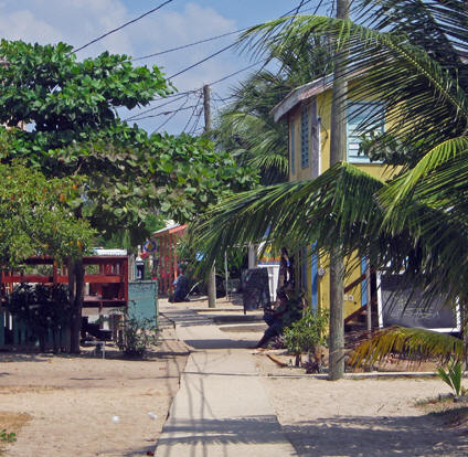 This is Main Street in Placencia, Belize