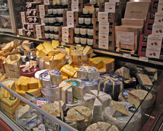 Fully packed refrigerated cheese display