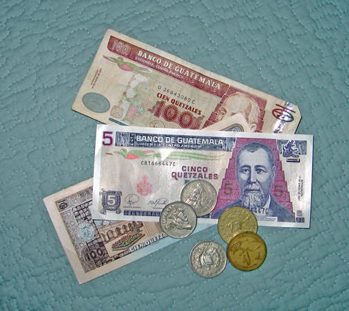 A closer look at Guatemalan money.
