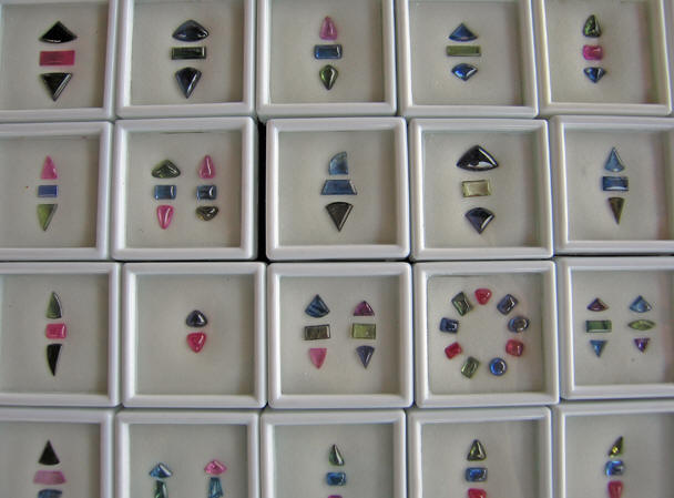 A SAMPLE OF ROGER'S UNIQUELY CARVED AND ARRANGED GEMS