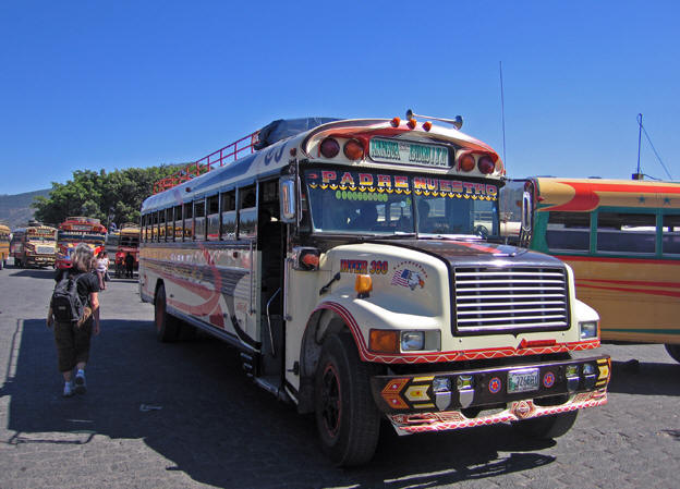 Many busses leave from the market daily to Santa Maria
