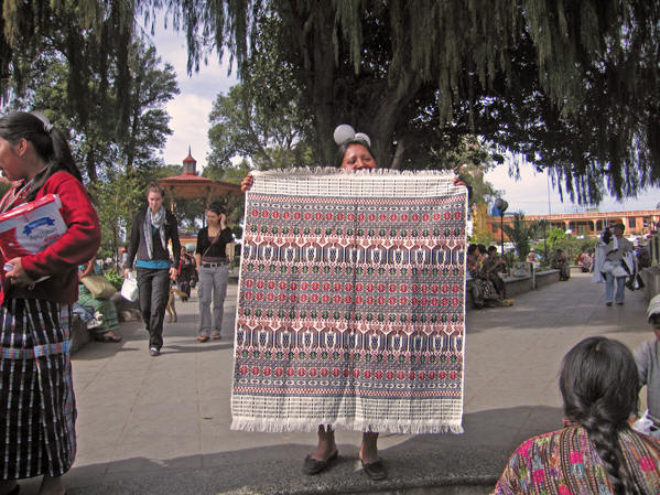 Guatemala is known for its weavings.