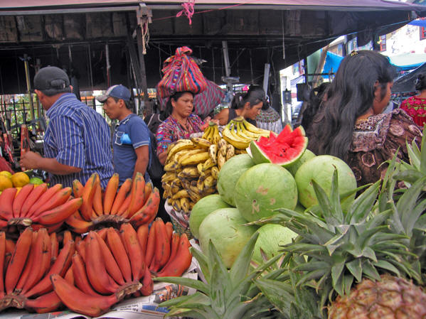 Different styles of bananas, heaps of produce