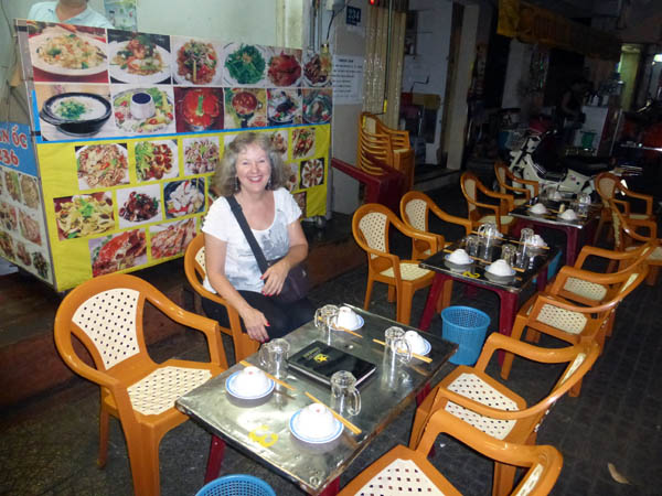 Dining on the street, Saigon, Vietnam