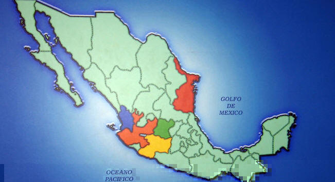 Designated tequila-making Mexican states