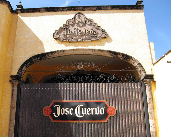 The Jose Cuervo distillery complex in Tequila