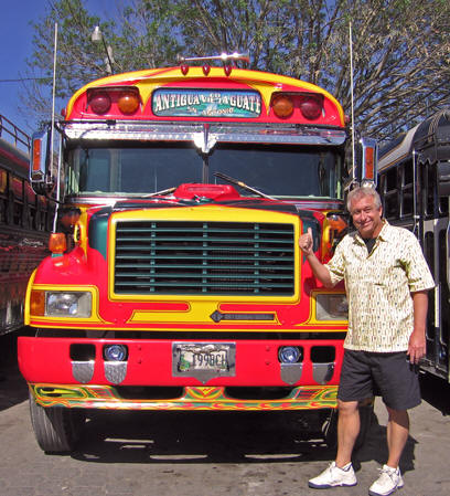 Billy found his old school bus!