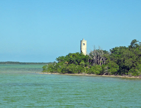 An abandoned lighthouse by the dock and ferry area. Is this the one Jimmy Buffet writes about?